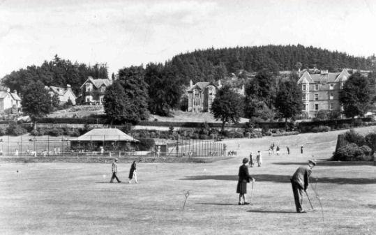 The tennis pavilion