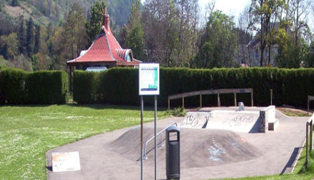 The skate park at Victoria Park