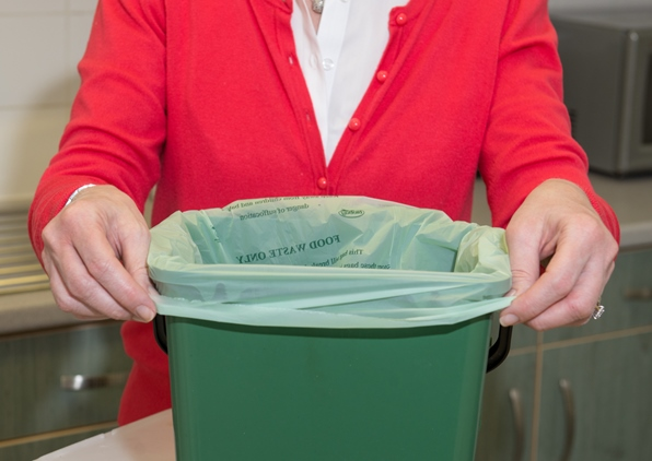 You can line your caddy with a compostable bag