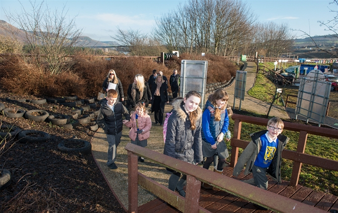 The WEBWalk has been constructed from reused and recycled materials, including the plastic boardwalk!