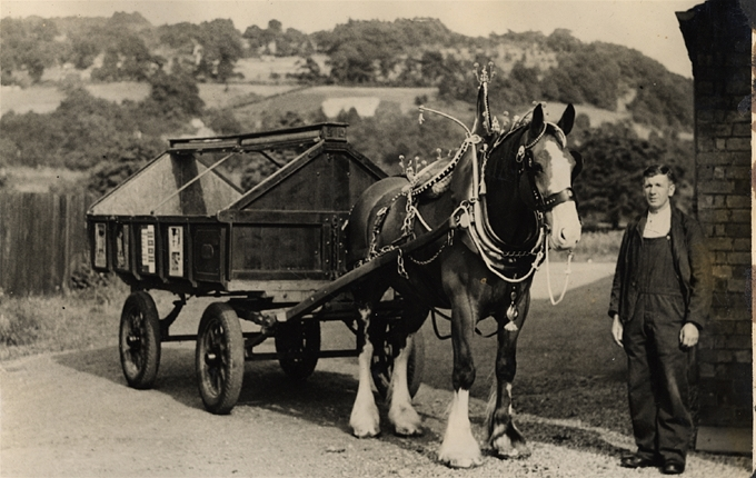 An early 20th Century Cleansing Department vehicle working in Perth.