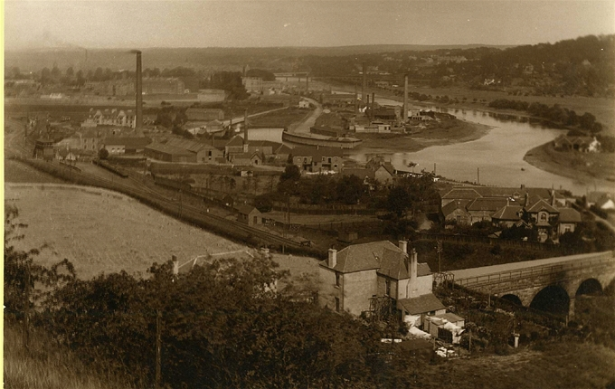 Looking back: An earlier view from Friarton before the WEBWalk and Recycling Centre were built.