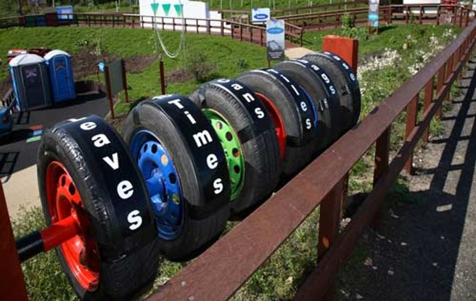 The WEBWalk memory test spinning tyre game.