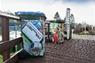 Recycle section: Kerbside Recycling Scheme wheelie bins.