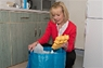 It can help to store mixed recycling in an internal bag or recycling bin to save on making multiple trips outside to your blue-lidded bin