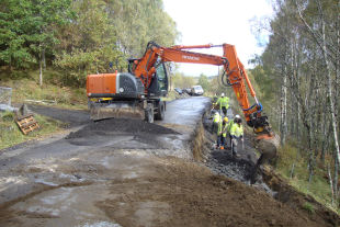 Galbion works on B847 road